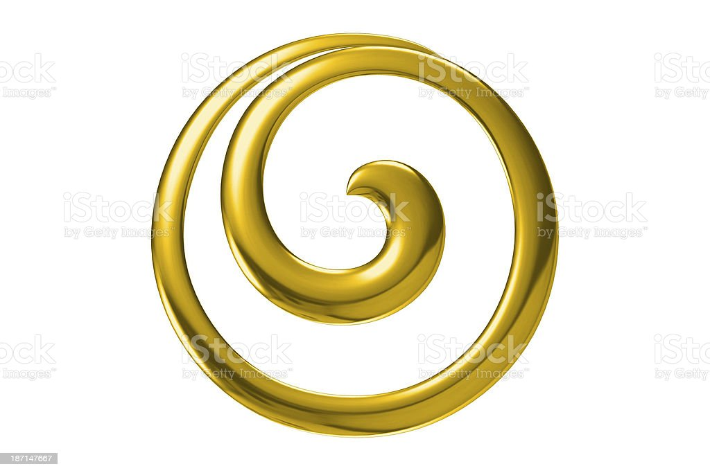 Gold twirl as an abstract background stock photo
