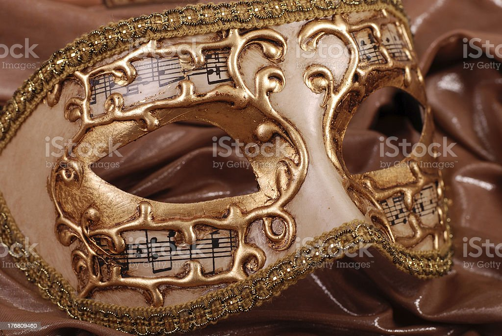 Gold venetian mask royalty-free stock photo