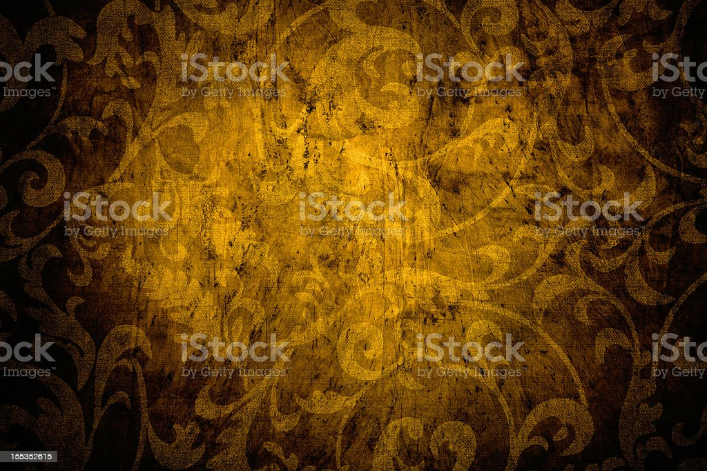 Gold Victorian Background royalty-free stock photo