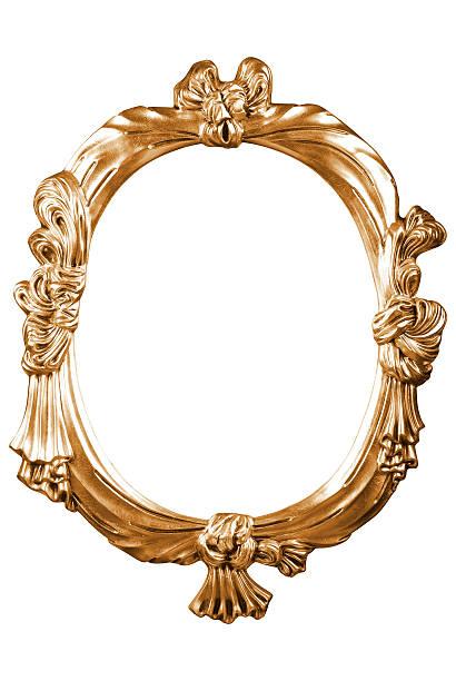 Gold vintage Rahmen, isoliert auf weißem Hintergrund – Foto