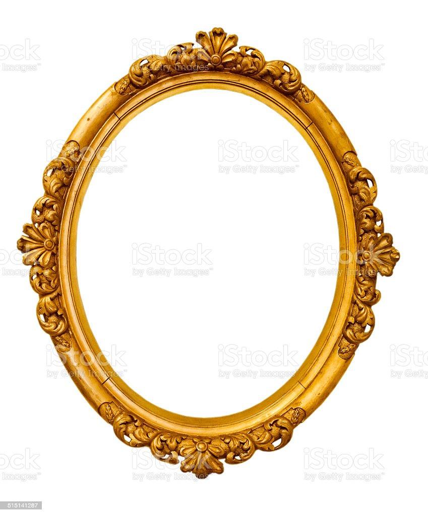 Gold Vintage Rahmen Isoliert Auf Weißem Hintergrund Stock-Fotografie ...