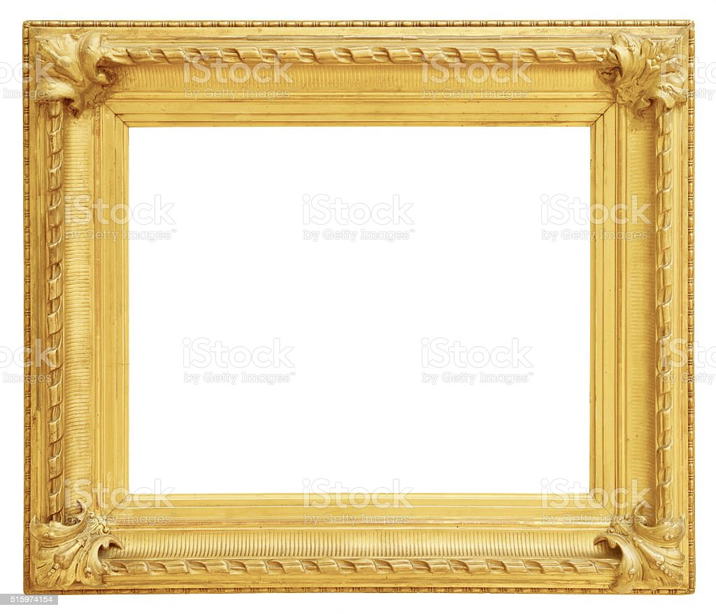 gold vintage frame isolated on white background stock photo more pictures of antique istock. Black Bedroom Furniture Sets. Home Design Ideas