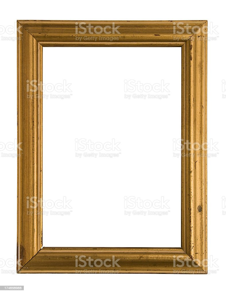 Gold Vintage Picture Frame stock photo