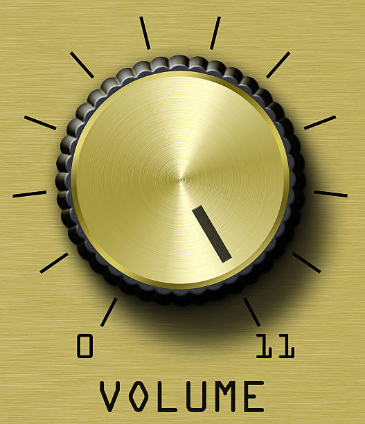 Gold Volume Eleven Volume control. This one goes to eleven. knob stock pictures, royalty-free photos & images