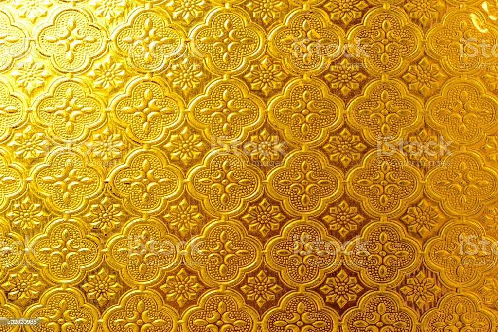 Gold wall stock photo