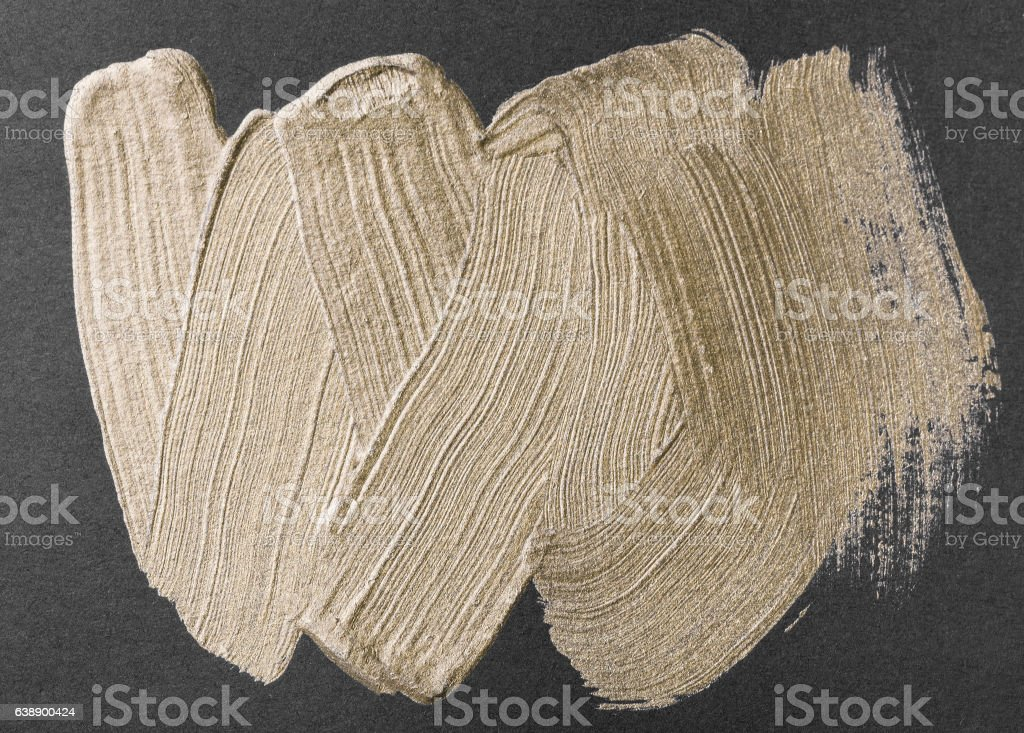 Gold watercolor texture paint stain stock photo