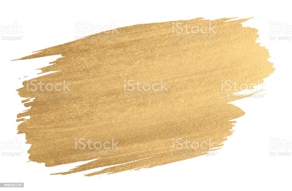 Gold watercolor texture paint stain shining brush stroke Gold watercolor texture paint stain shining brush stroke Abstract Stock Photo