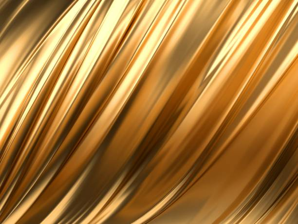 gold wave abstract background 3d rendering - kunst 1. klasse stock-fotos und bilder