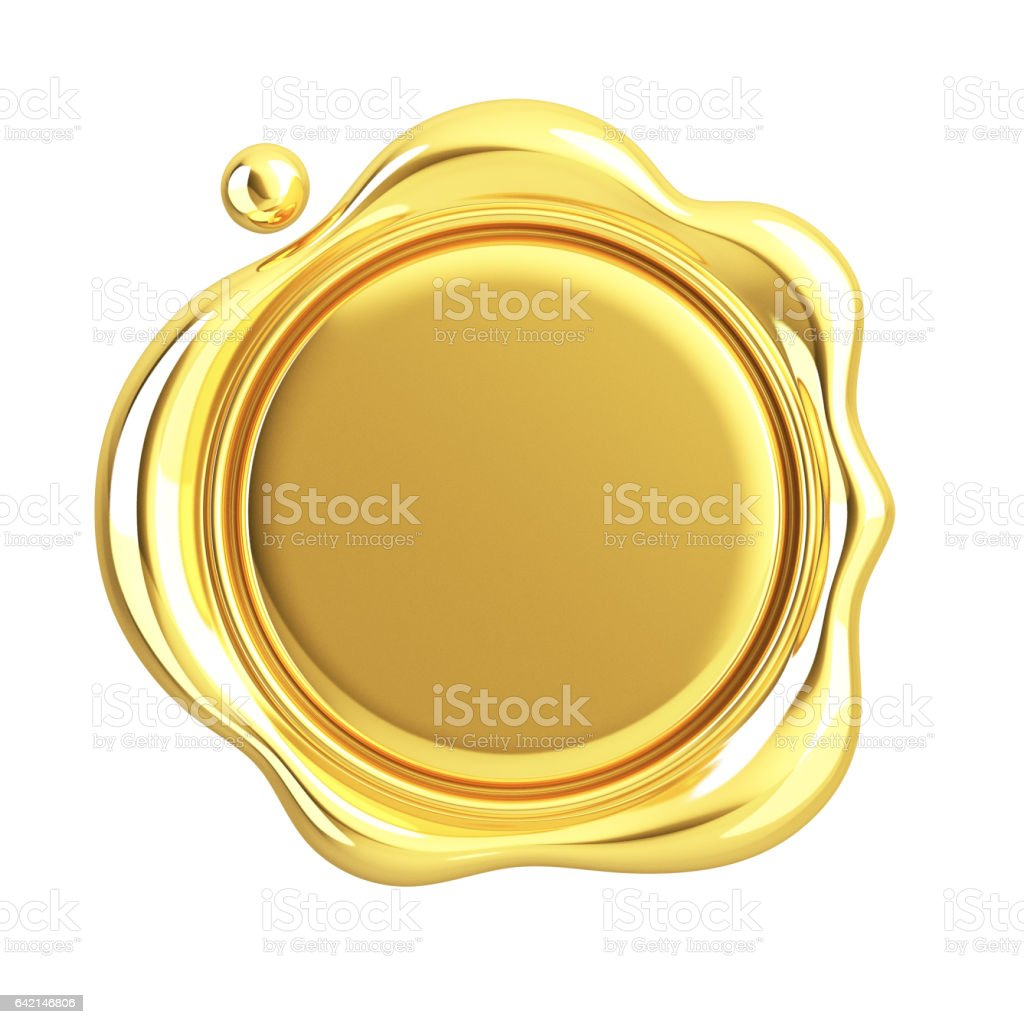 Gold Wax Seal stock photo