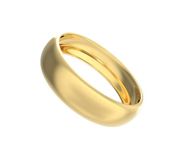 anneau de mariage d'or 3d rendu - bague photos et images de collection
