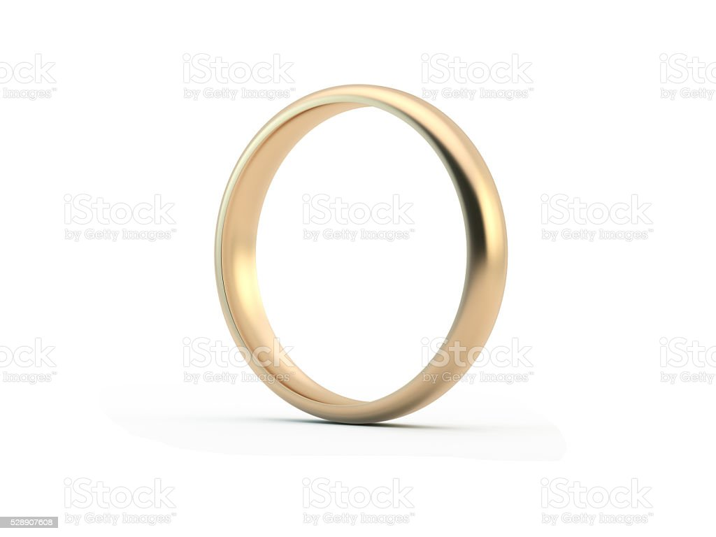 Gold Wedding Ring stock photo