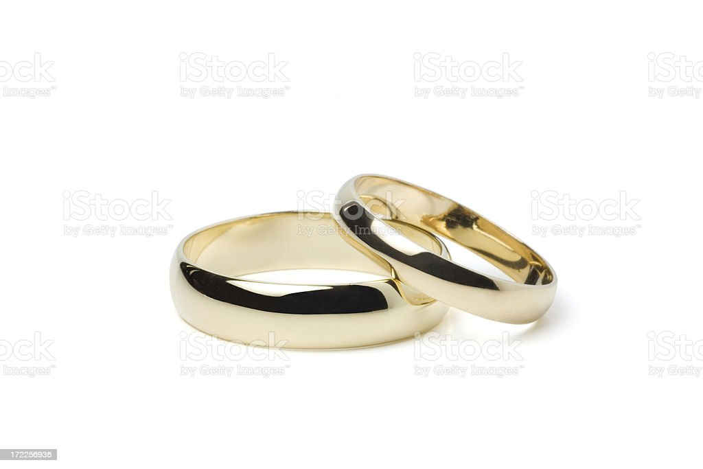 Gold Wedding Rings (Clipping Path) royalty-free stock photo