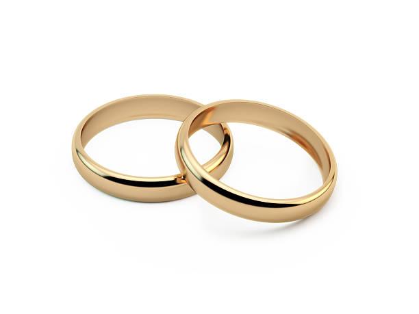 anneaux de mariage en or - bague photos et images de collection