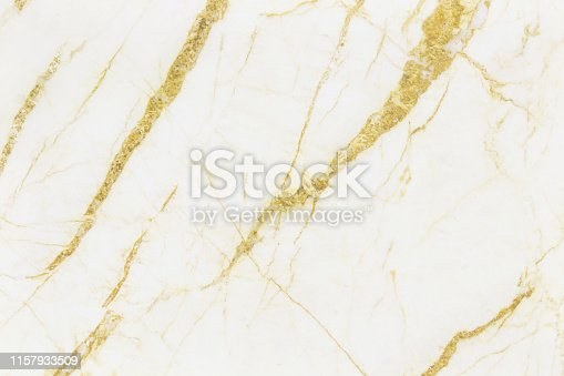 istock Gold white marble texture background with detail structure high resolution, abstract  luxurious seamless of tile stone floor in natural pattern for design art work. 1157933509