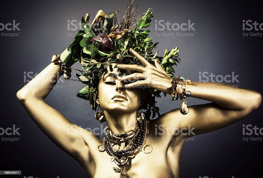 Gold Woman - Royalty-free Adult Stock Photo