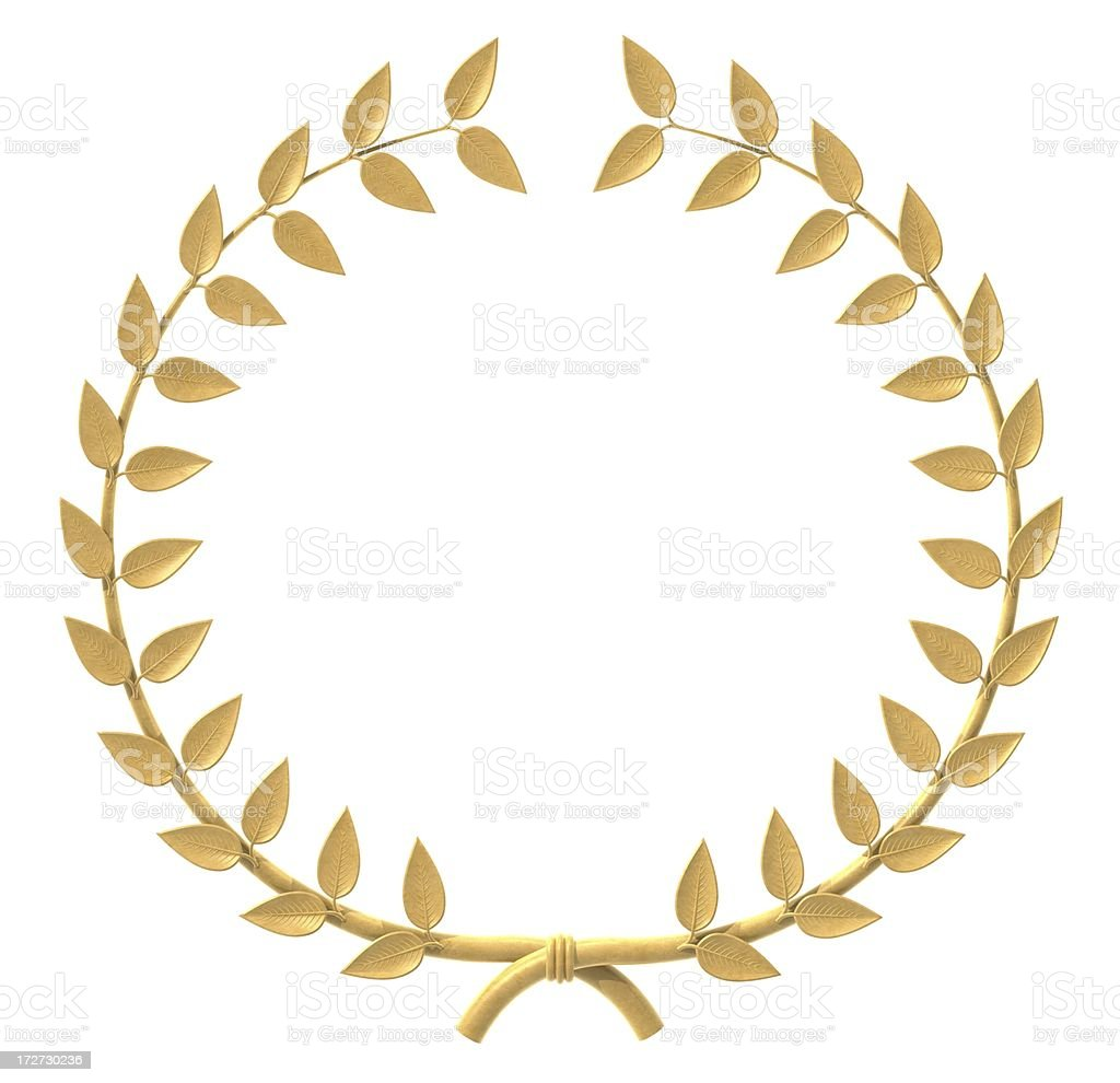 Gold Wreath stock photo