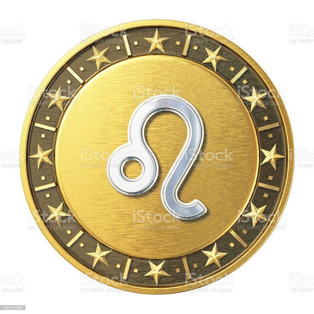 Gold Zodiac Signs - Leo stok fotoğrafı