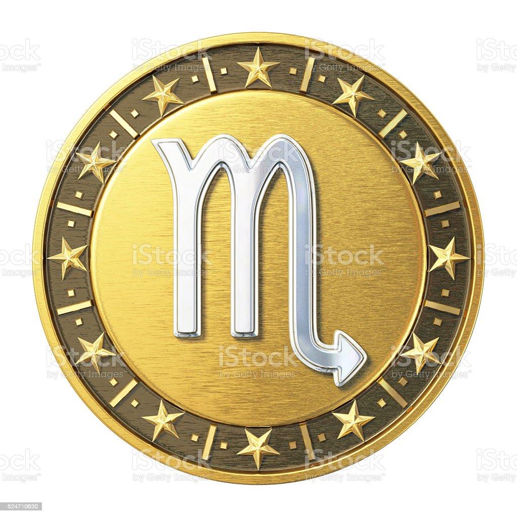 Gold Zodiac Signs - Scorpio stock photo