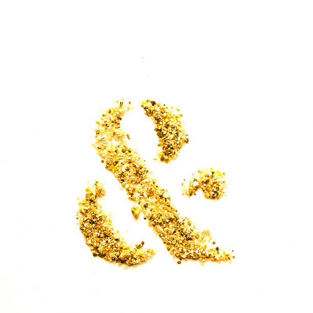 golddust & - ampersand stock pictures, royalty-free photos & images