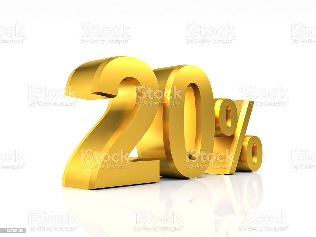 golden 20 discount stock photo