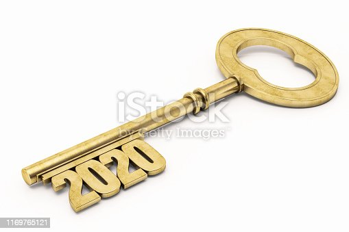 istock Golden 2020 Key. New Year Concept 1169765121