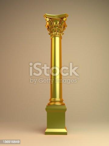 istock golden 3d column 136916849