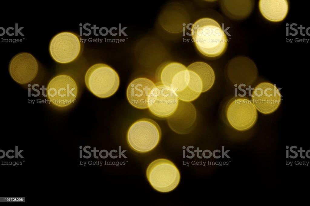 golden abstract light spots stock photo