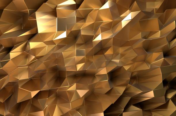 Golden Abstract stock photo
