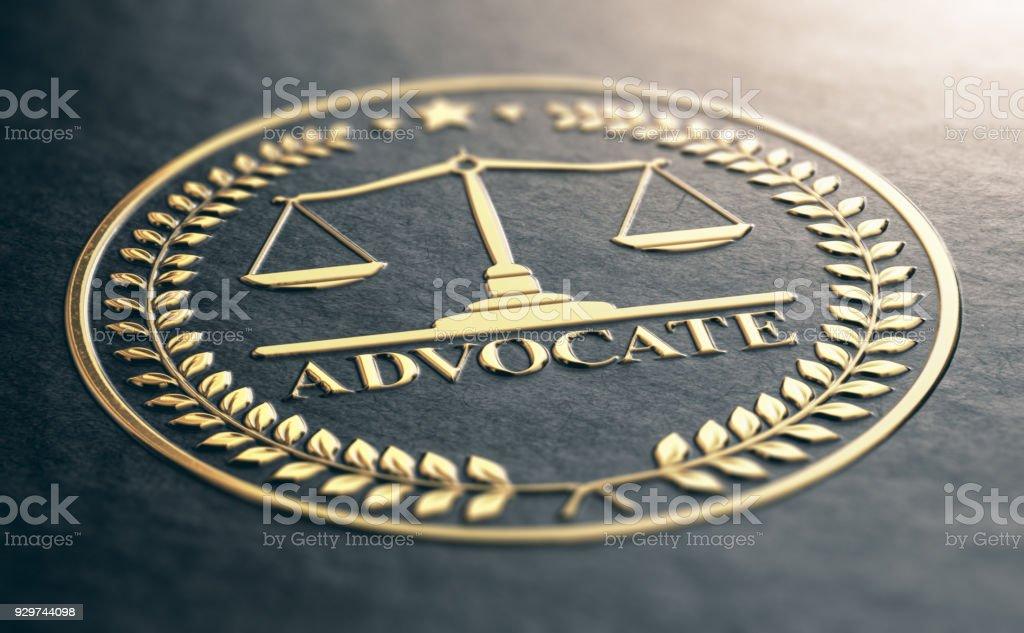 Golden Advocate Symbol Stock Photo - Download Image Now - iStock