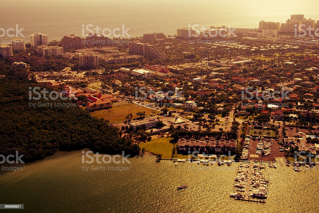 Golden afternoon in Miami royalty-free stock photo