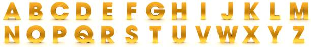 金色字母字母字元 3d 類型 a b c d e f g h i j k l n n o p r s t v v v x y z 渲染 - weihnachten 個照片及圖片檔