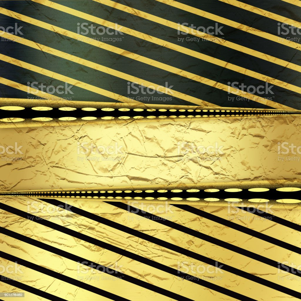 Golden and black background with diagonal lines stock photo