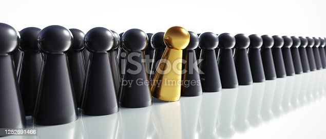483424715 istock photo Golden and black game figures 1252691466