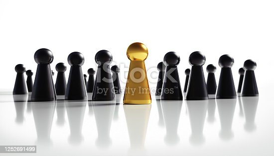 483424715 istock photo Golden and black game figures 1252691499