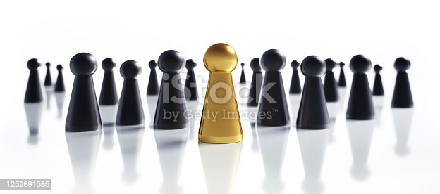 483424715 istock photo Golden and black game figures 1252691585