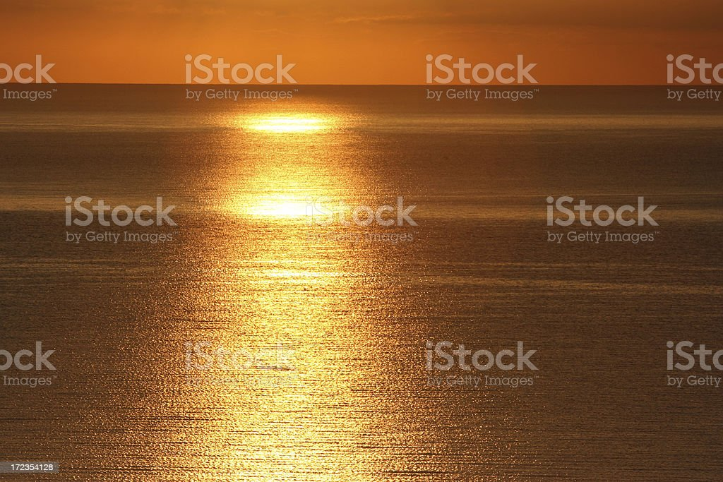 Golden and bronze sea royalty-free stock photo