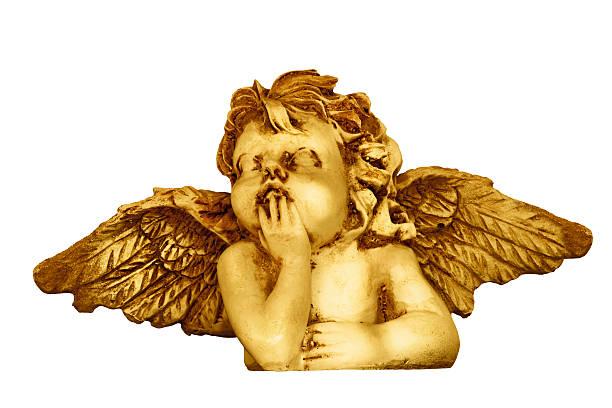 Golden ángel Figura - foto de stock