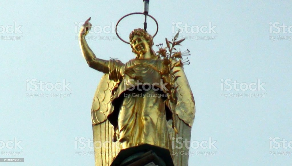 Golden Angel Of San Marco Campanile At Piazza San ...