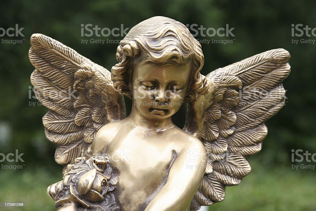 golden angel royalty-free stock photo