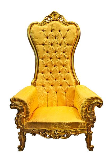 golden antique armchair - tron zdjęcia i obrazy z banku zdjęć
