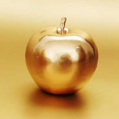Golden Apple Stock Photo - Download Image Now