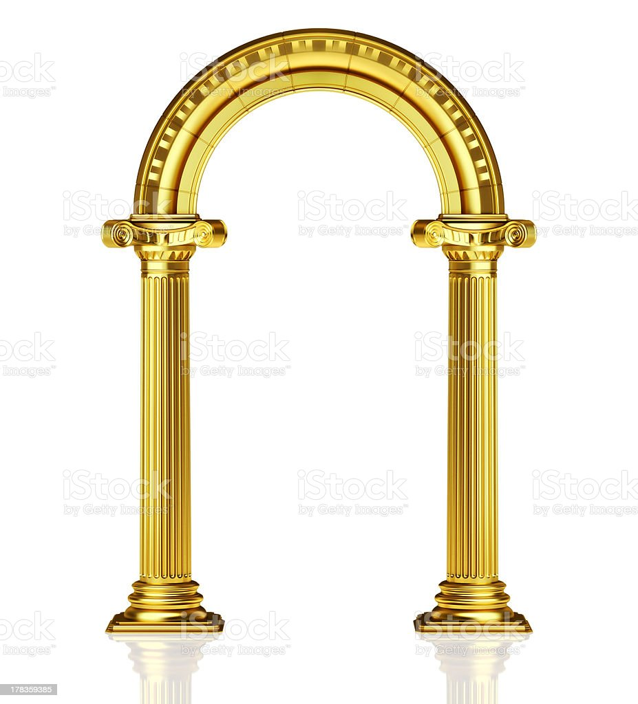 Golden arch stock photo
