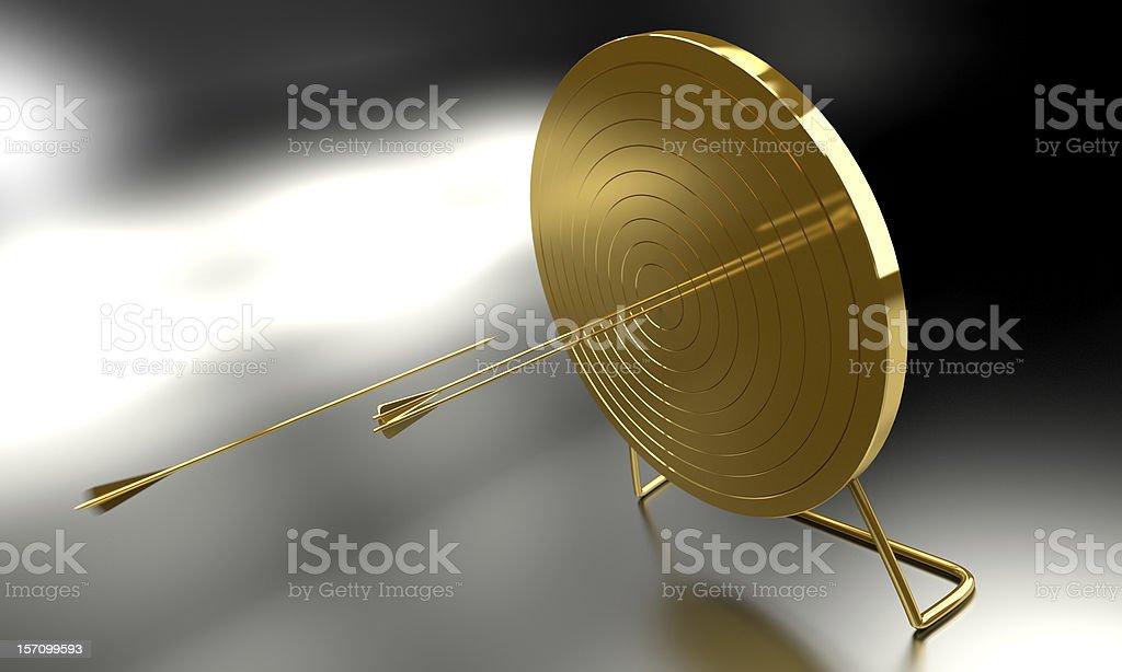 Golden Archery Target royalty-free stock photo