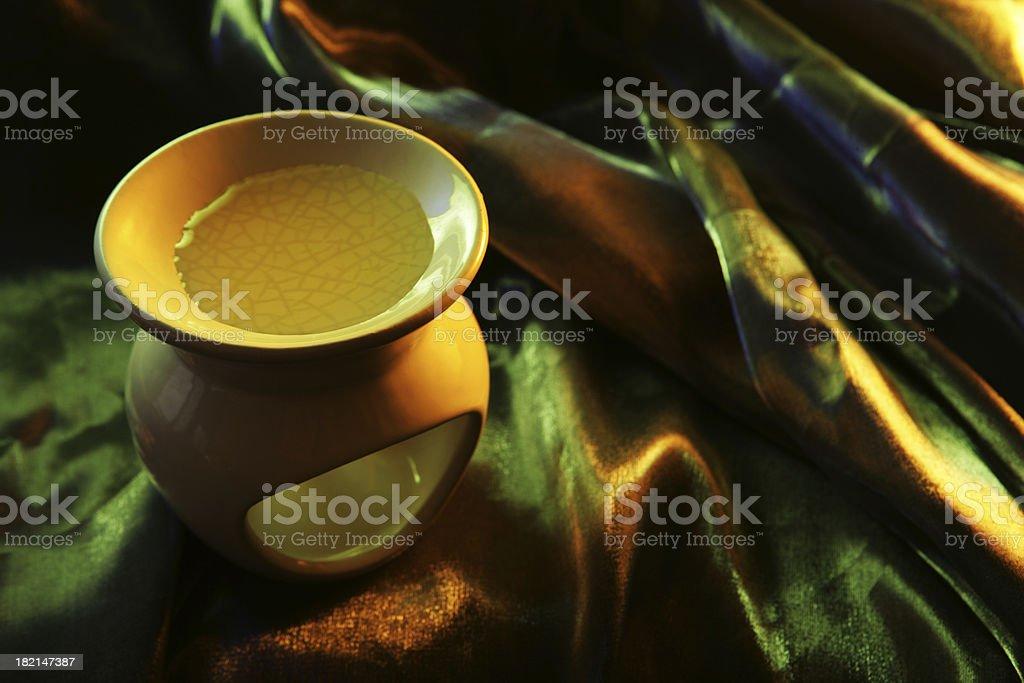 Golden Aromatherapy royalty-free stock photo