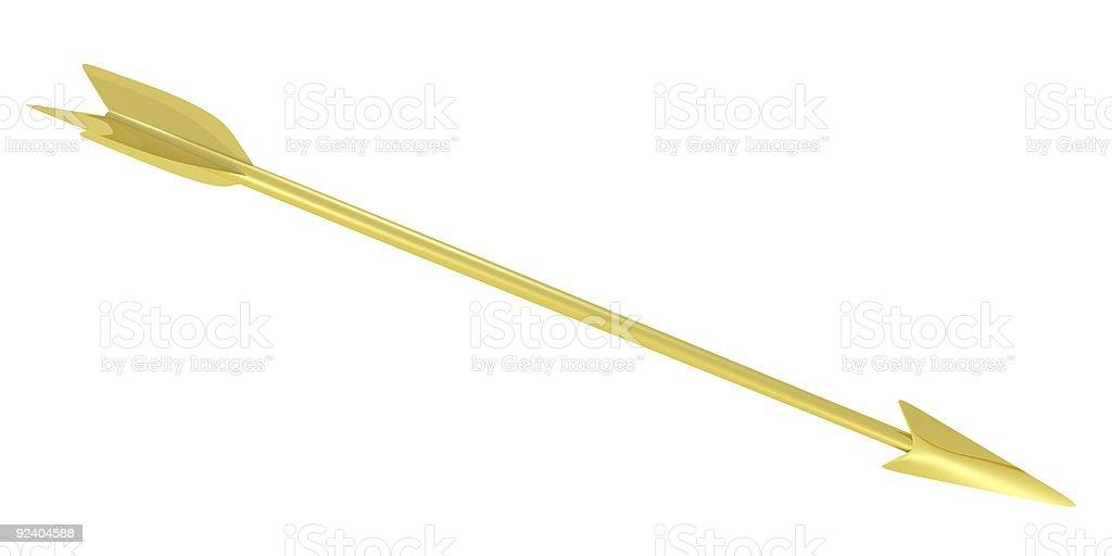 Golden arrow stock photo