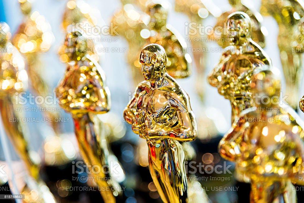 D'oro Premio statue dei cloni - Foto stock royalty-free di Ambientazione interna