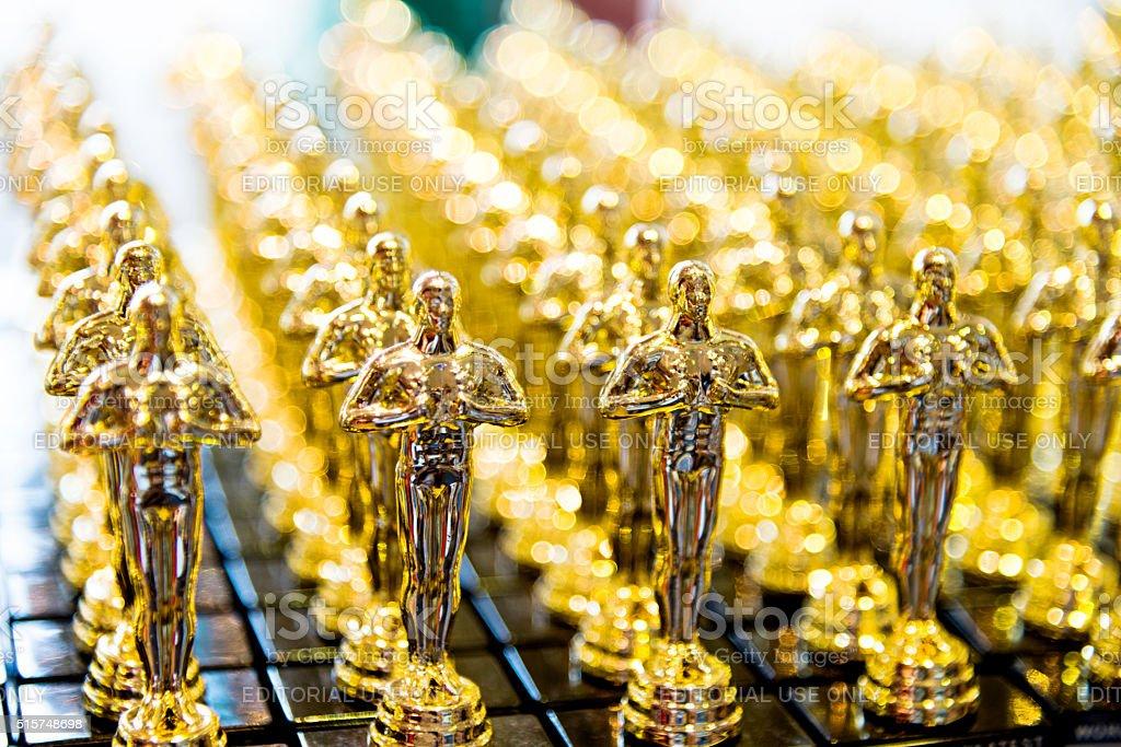 D'oro Premio statue dei cloni - foto stock