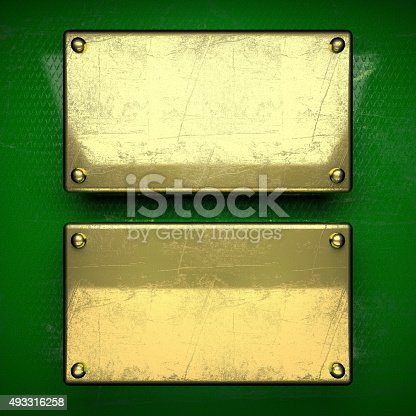 istock golden background painted in green 493316258