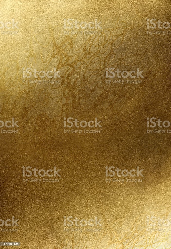 Golden background with handwrited texture royalty-free stock photo