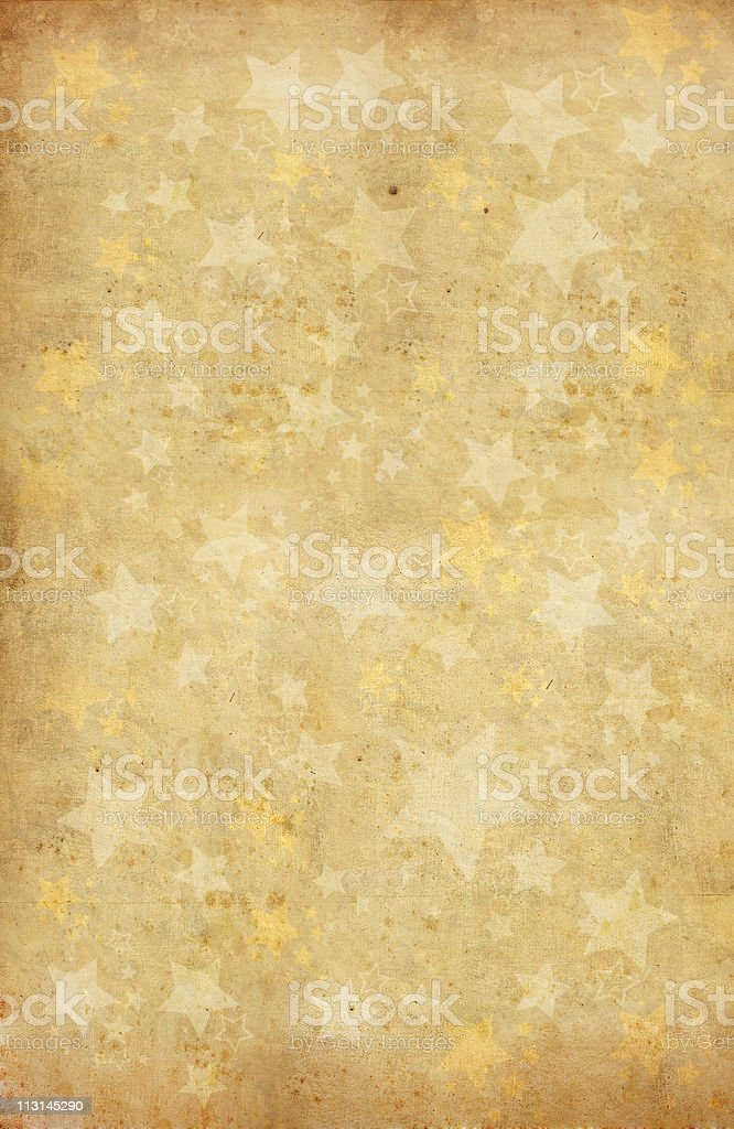 Golden background with star shapes royalty-free stock photo
